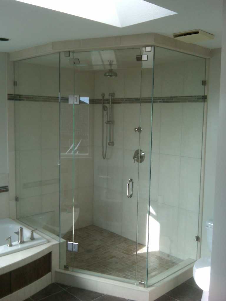 Framed glass showers vancouver glass north vancouver glass