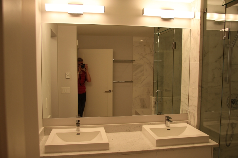 Vancouver glass north vancouver glass for Custom made mirrors for bathrooms